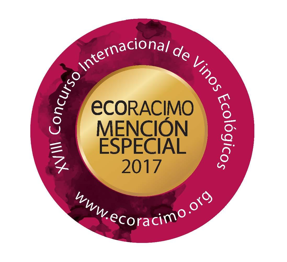 MENCIÓN ESPECIAL ECORACIMO 2017 para vino dulce ecológico FILIGRANA